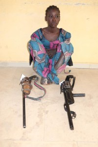 Police nab 16-year-old female bandit armed with dangerous weapons in Niger state (See photo)