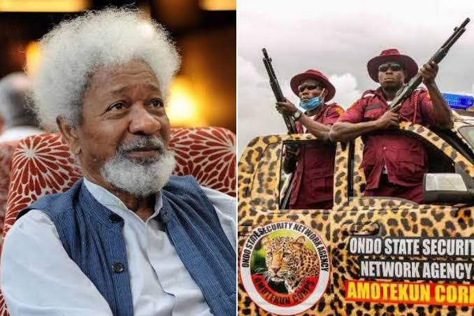 , Amotekun must not become another SARS – Soyinka, Effiezy - Top Nigerian News & Entertainment Website