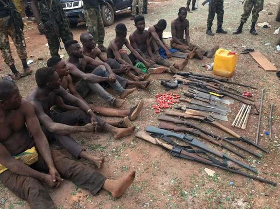 Benue communal crisis: Military arrests 10, recovers 16 firearms (Photo)
