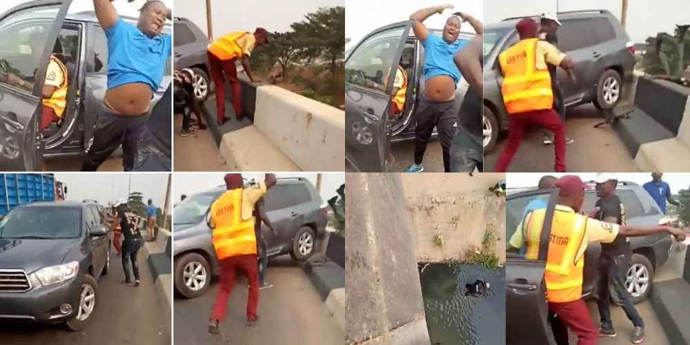 Driver Knocks Policeman Off A Bridge While Trying To Escape LASTMA Officials [Video]
