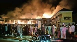 Goods worth millions destroyed as fire guts Bababa Shopping plaza in Bauchi