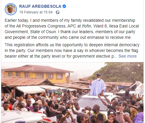 Murderers, miscreants, hoodlums have joined APC — Buhari's Minister, Aregbesola, Murderers, miscreants, hoodlums have joined APC — Buhari's Minister, Aregbesola, Effiezy - Top Nigerian News & Entertainment Website