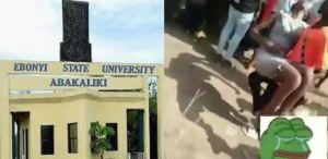 Commotion in university as students slump during exam in an overcrowded hall in EBSU (video + photo)