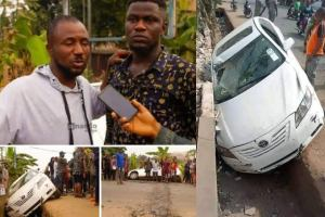 Gozie Okeke escapes death in car accident (photo)