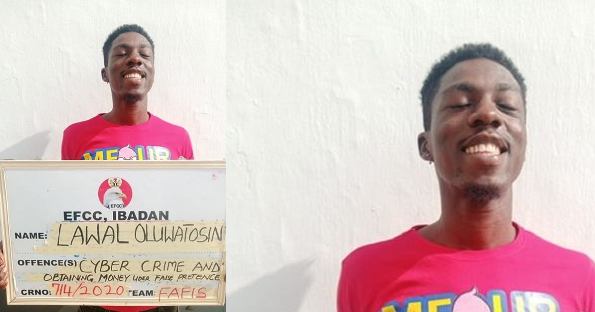 Young man smiles as he bags jail term over a $50 fraud in Ibadan