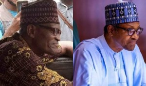 Buhari lookalike spotted in Lagos driving 'danfo', Nigerians react (video)