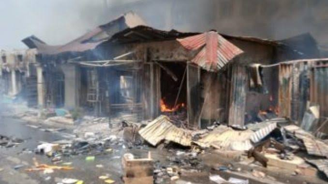 Fire razes property worth millions of naira in Oyo market