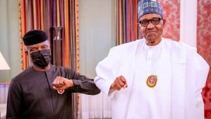 You're a reliable deputy, Buhari tells Osinbajo as he clocks 64