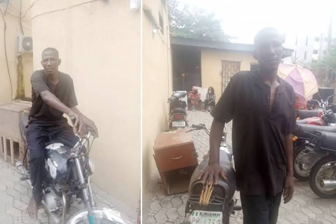 , Police arrest man who stole motorcycle during #EndSARS, Effiezy - Top Nigerian News & Entertainment Website