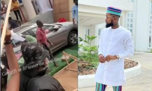 Singer, Patoranking gifts his sister a car on her wedding day  (video)
