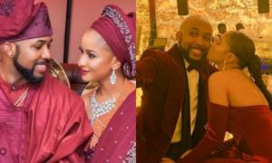 Adesua Etomi pens adorable letter to husband, Banky W on his 40th birthday (photo)