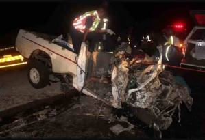 Road accident: Two persons died as 218 goats got roasted in the inferno