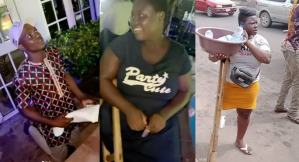 Man proposes to physically challenged hawker after she was supported with over N14M (video)
