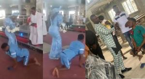 Physically challenged man who danced joyfully during his child dedication receives wheelchair from good Samaritan (video)