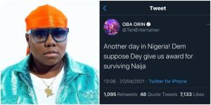 We are supposed to be given award for suriving in Nigeria – Teni