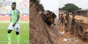 , Super Eagles star constructs roads, drainage for local community in Benue State, Effiezy - Top Nigerian News & Entertainment Website