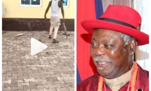 King Alfred Diette-Spiff palace vandalized by hoodlums (Video)