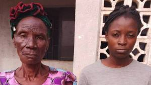 80 year-old grandma and granddaughter arrested by NDLEA with cocaine
