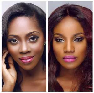 Tiwa Savage clashes with Seyi Shay in Lagos spa (See Video)