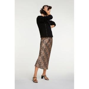 Oui Snakeprint Ladies Boutique Skirt