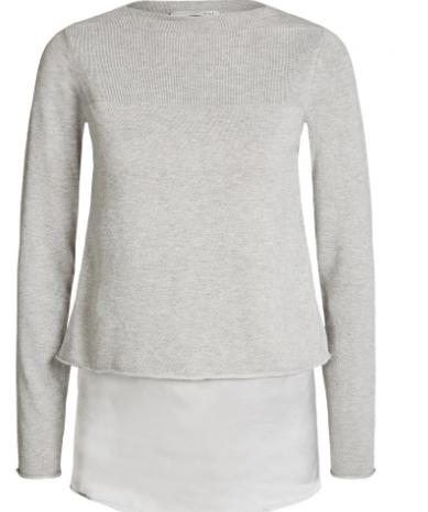 Oui grey knit jumper top