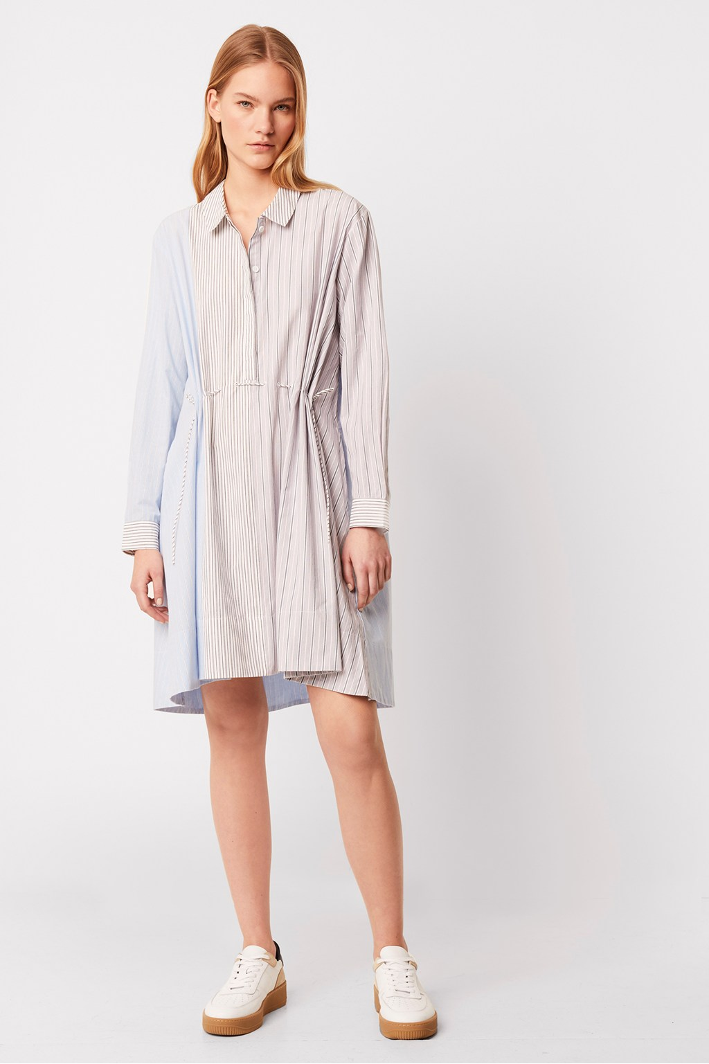 French Connection Salma Stripe Oversized Shirt Dress
