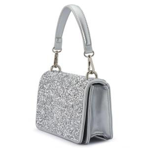 Olga Berg Clutch Bag Silver Wedding Wear