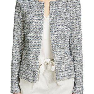 oui blue tweed jacket
