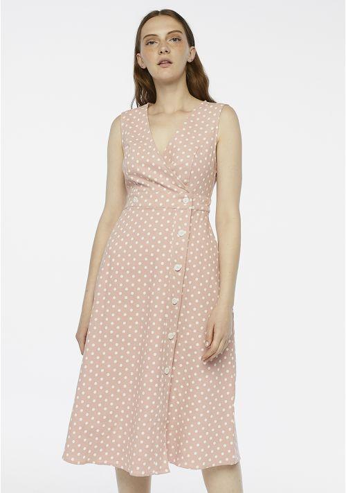 pink dress polka dot occasion wedding