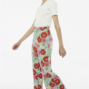 print wide leg trousers wedding