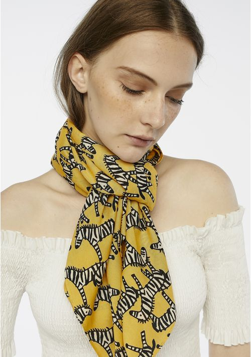 zebra print scarf accessories