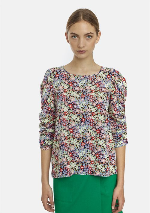 floral blouse top dressy