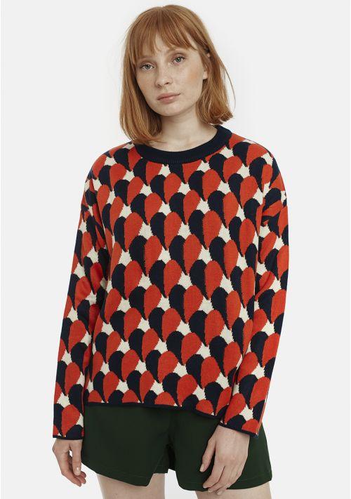 knit jumper print heat top