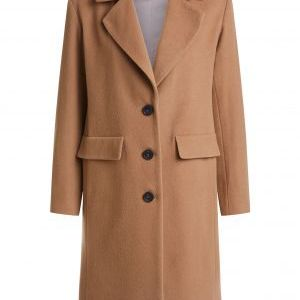 oui wool coat camel
