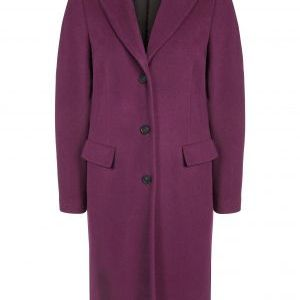 oui plum wool coat