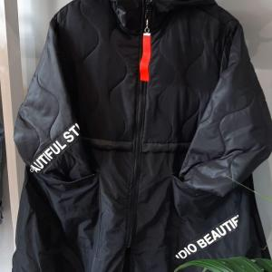 elie black red tag coat
