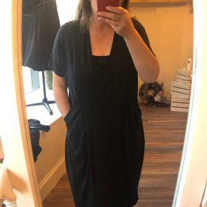 elie black dress