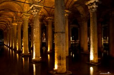 The impressive Basilica Cistern in Istanbul Turkey