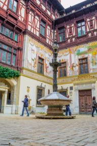 The interior courtyard of the Peles Castle