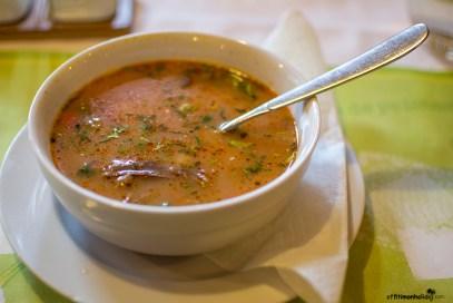 Traditional Romanian food in Sinaia