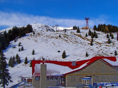 At the top of the mountain in Sinaia