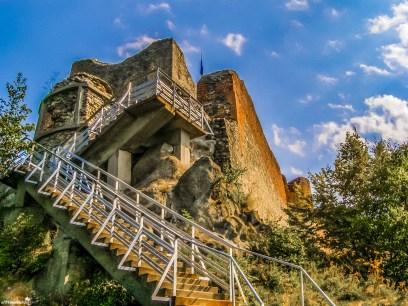 Poenari Citadel - the second stop on the Transfagarasan road
