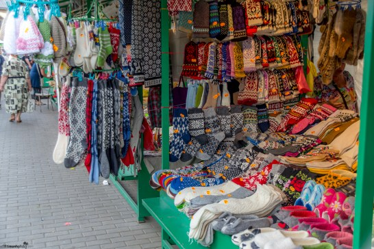 Mittens at the Central Market in Riga