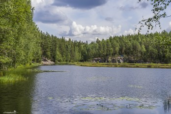 A gorgeous lake at the Nuuksio National Park