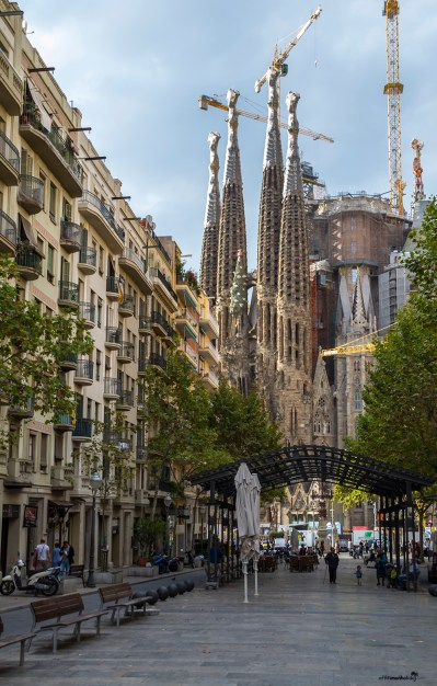 The stunning Sagrada Familia, located close to an apartment with a view in Barcelona
