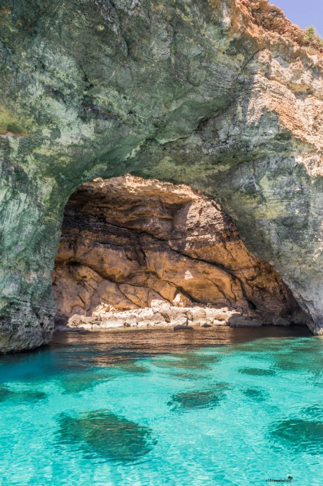 What to see in Malta: The caves near the breathtaking Blue Lagoon on the island of Comino