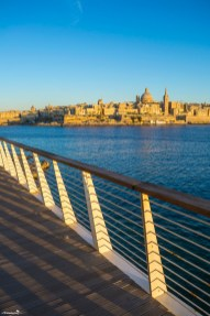 What to see in Malta: View of Valletta from Sliema