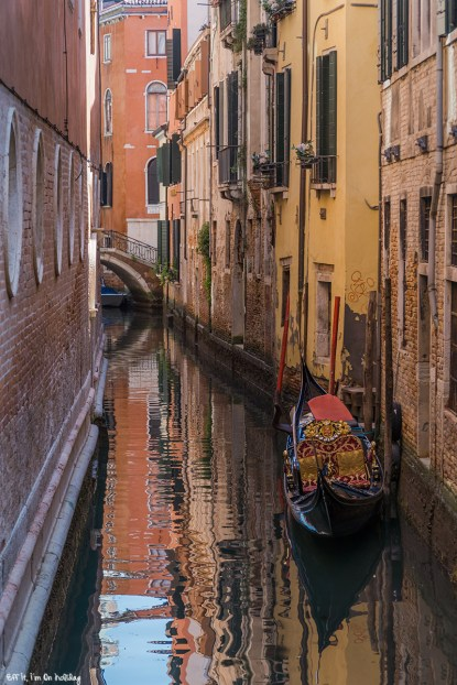 Beautiful canal in Venice