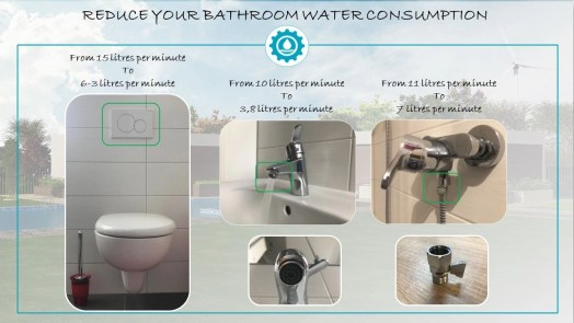 Ways to reduce bathroom water consumption