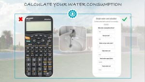 Easily calculate your water consumption